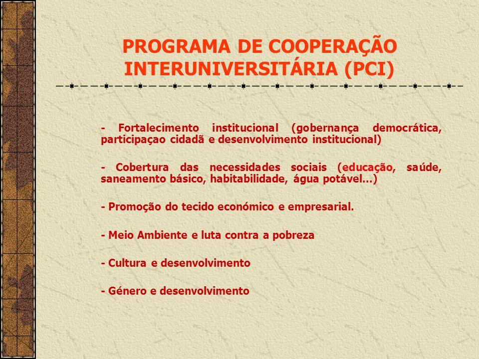 -- Fortalecimento institucional (gobernança democrática, participaçao cidadã e desenvolvimento institucional) - Cobertura das necessidades sociais (ed