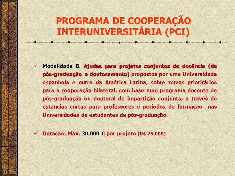Informações adicionais: www.aecid.es www.becasmae.es www.becasmae.es/pci www.aecid.es/lectoresmae www.fundacioncarolina.es www.becasmae.es/pifte Oficina Técnica de Cooperação / AECID Embaixada da Espanha em Brasilia Tel.