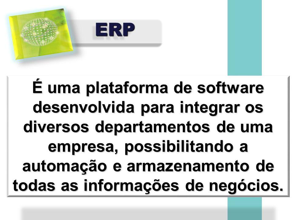 ERPERP É uma plataforma de software desenvolvida para integrar os diversos departamentos de uma empresa, possibilitando a automação e armazenamento de