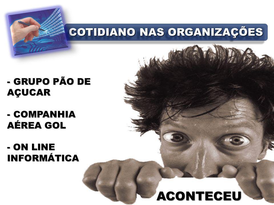 ACONTECEU - GRUPO PÃO DE AÇUCAR - COMPANHIA AÉREA GOL - ON LINE INFORMÁTICA COTIDIANO NAS ORGANIZAÇÕES