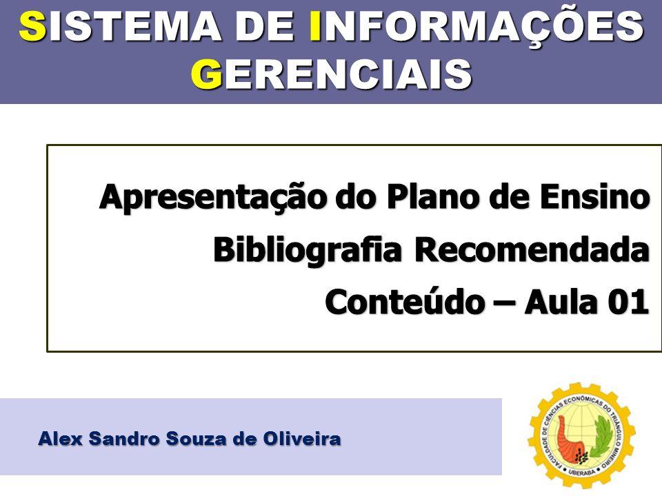 SISTEMA DE INFORMAÇÕES GERENCIAIS Alex Sandro Souza de Oliveira