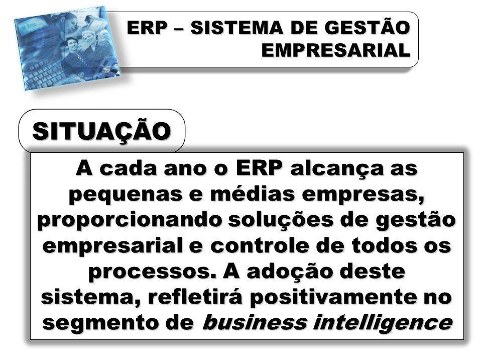 QUAL A VANTAGEN COMPETITIVA ESPERADA COM A IMPLANTAÇÃO DO ERP - Eficiência operacional (76%) - Suporte a negócio global (12%) - Crescimento (5%) - Redução do custo de TI (4%)