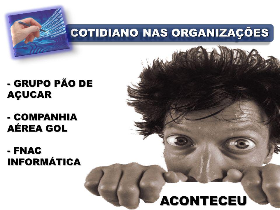 ACONTECEU - GRUPO PÃO DE AÇUCAR - COMPANHIA AÉREA GOL - FNAC INFORMÁTICA COTIDIANO NAS ORGANIZAÇÕES
