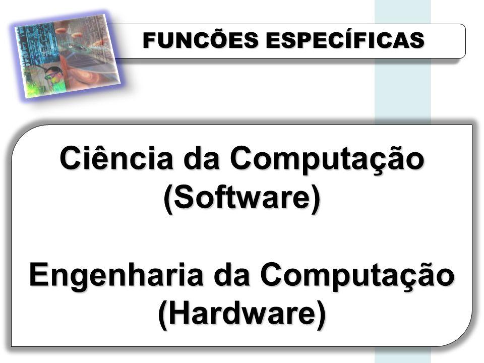 FUNCÕES ESPECÍFICAS Ciência da Computação (Software) Engenharia da Computação (Hardware)