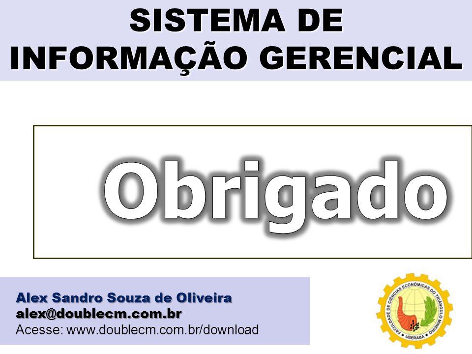 SISTEMA DE INFORMAÇÃO GERENCIAL Alex Sandro Souza de Oliveira alex@doublecm.com.br Acesse: www.doublecm.com.br/download
