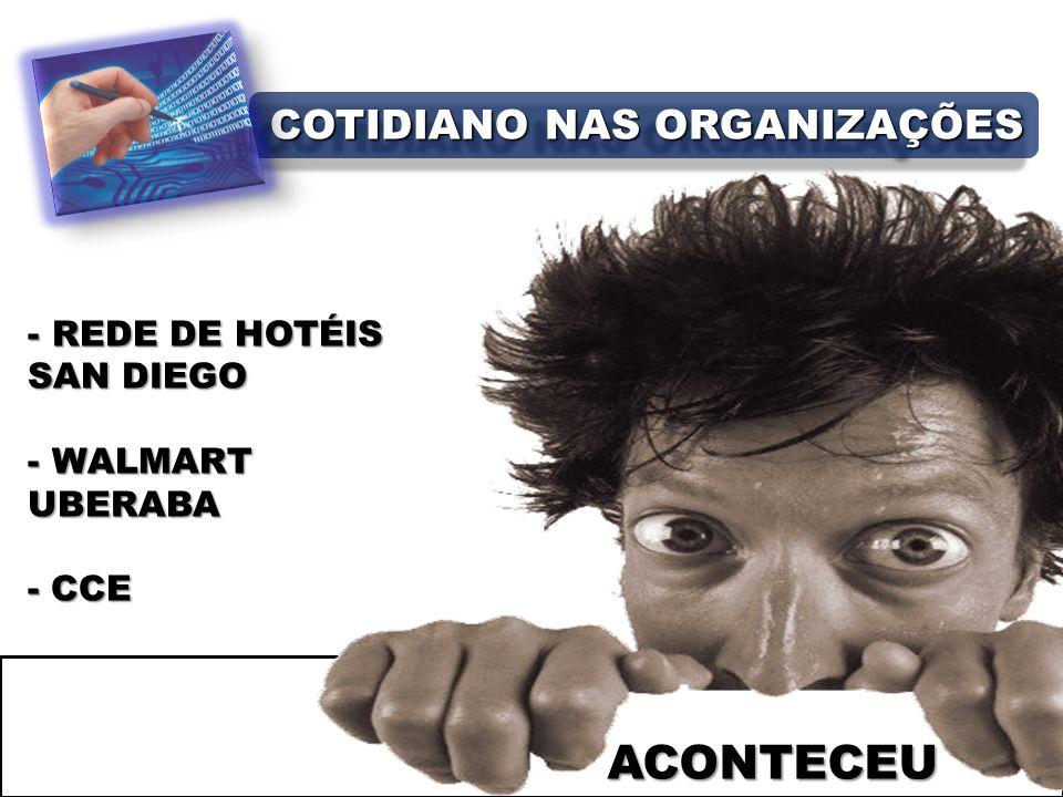 - REDE DE HOTÉIS SAN DIEGO - WALMART UBERABA - CCE COTIDIANO NAS ORGANIZAÇÕES ACONTECEU