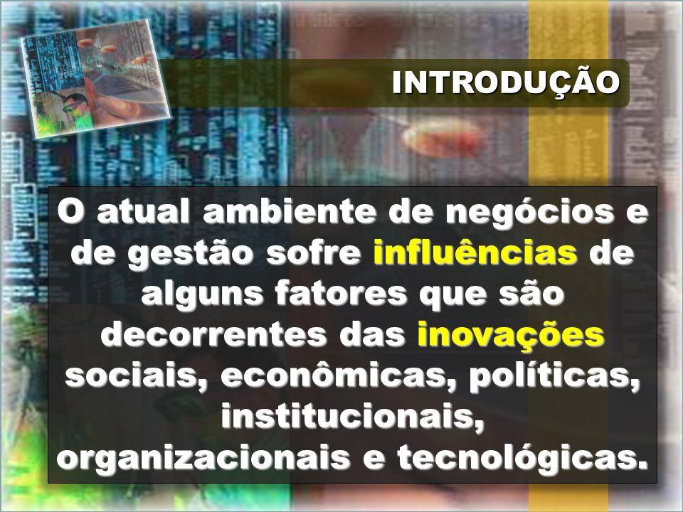 INTRODUÇÃOINTRODUÇÃO O atual ambiente de negócios e de gestão sofre influências de alguns fatores que são decorrentes das inovações sociais, econômica