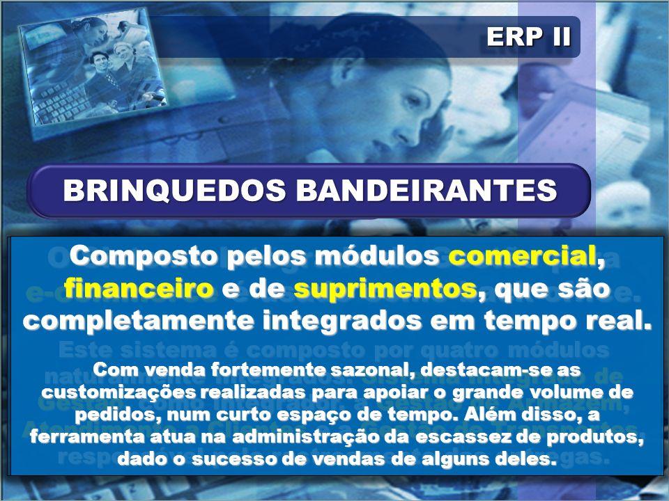 ERP II O Sistema Integrado de Gestão para e-commerce é usado como back-office. Este sistema é composto por quatro módulos naturalmente integrados: Sis