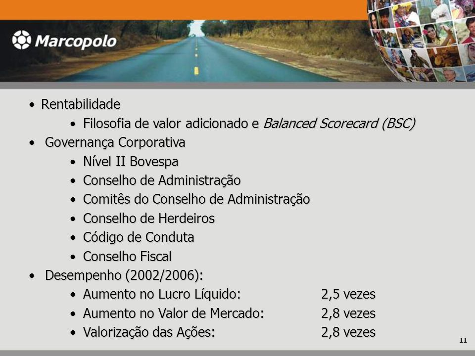 RentabilidadeRentabilidade Filosofia de valor adicionado e Balanced Scorecard (BSC) Filosofia de valor adicionado e Balanced Scorecard (BSC) Governanç