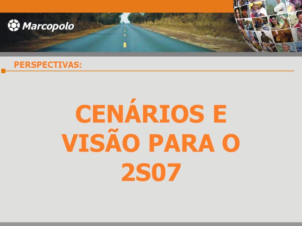 CENÁRIOS E VISÃO PARA O 2S07 PERSPECTIVAS: