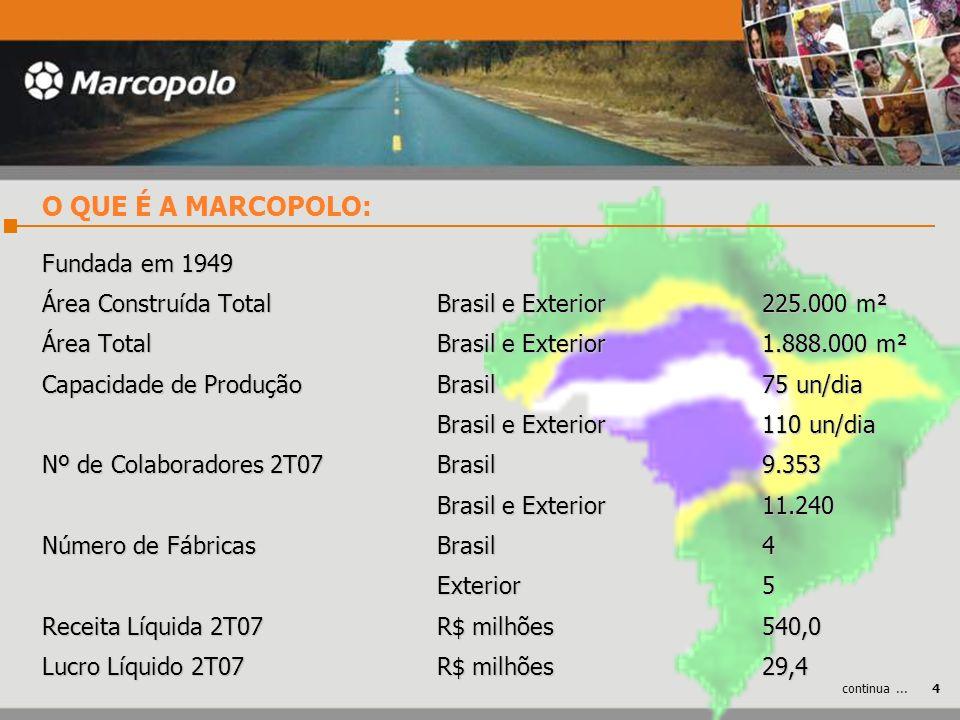 Fundada em 1949 Área Construída TotalBrasil e Exterior 225.000 m² Área Total Brasil e Exterior 1.888.000 m² Capacidade de Produção Brasil75 un/dia Bra