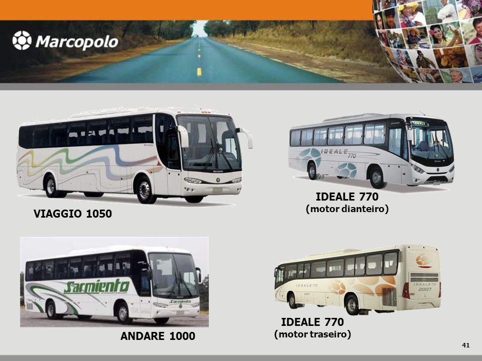 VIAGGIO 1050 ANDARE 1000 IDEALE 770 (motor traseiro) IDEALE 770 (motor dianteiro) 41