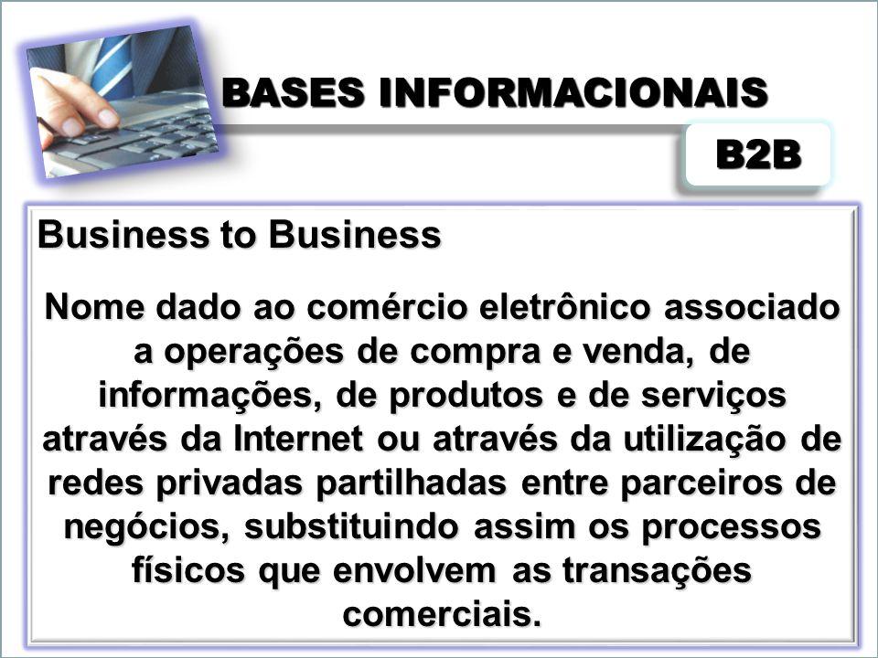 BASES INFORMACIONAIS Pode também ser definido como troca de mensagens estruturadas com outros parceiros comerciais a partir de redes privadas ou da Internet, para criar e transformar assim as suas relações de negócios.