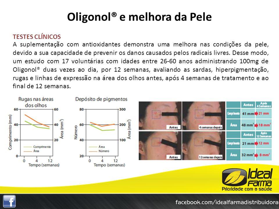 TESTES CLÍNICOS A suplementação com antioxidantes demonstra uma melhora nas condições da pele, devido a sua capacidade de prevenir os danos causados p