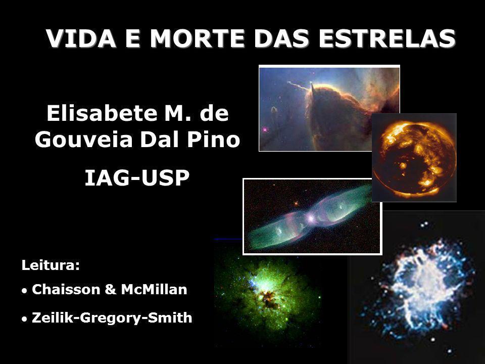 VIDA E MORTE DAS ESTRELAS Elisabete M. de Gouveia Dal Pino IAG-USP Leitura: Chaisson & McMillan Zeilik-Gregory-Smith