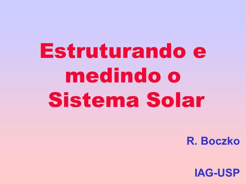 Estruturando e medindo o Sistema Solar R. Boczko IAG-USP