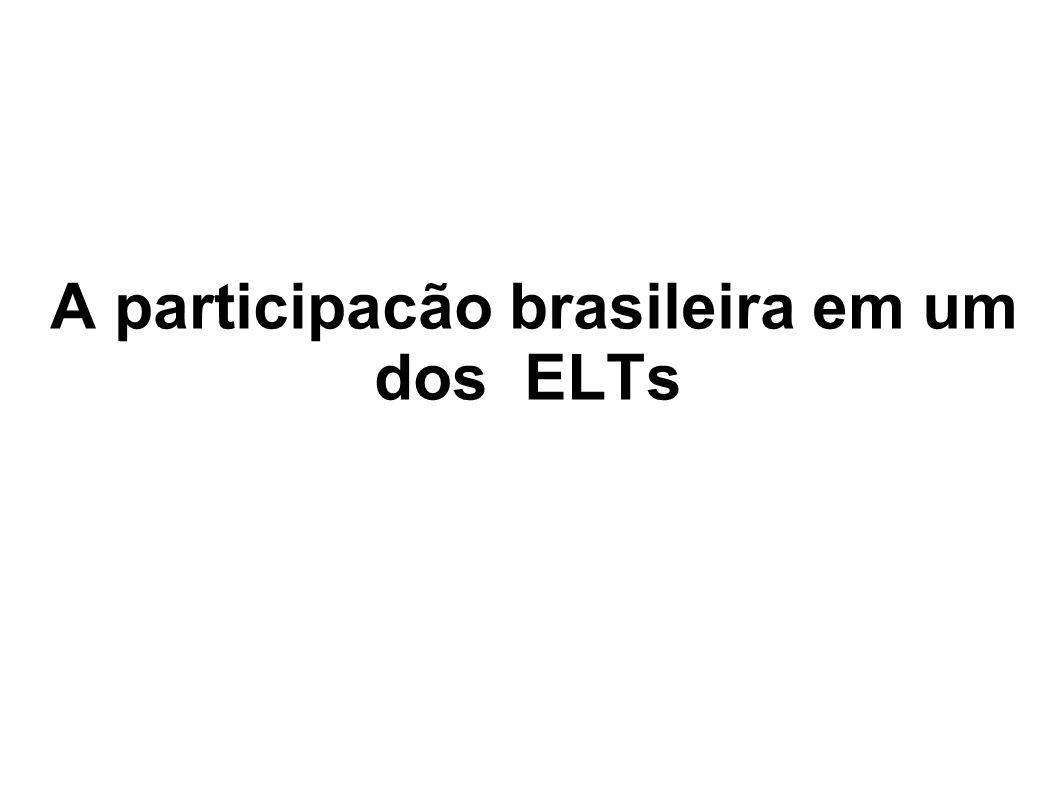 A participacão brasileira em um dos ELTs