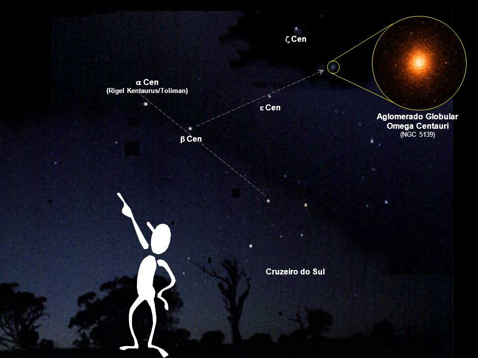 Aglomerado Globular Omega Centauri (NGC 5139) Cen (Rigel Kentaurus/Toliman) Cen Cruzeiro do Sul