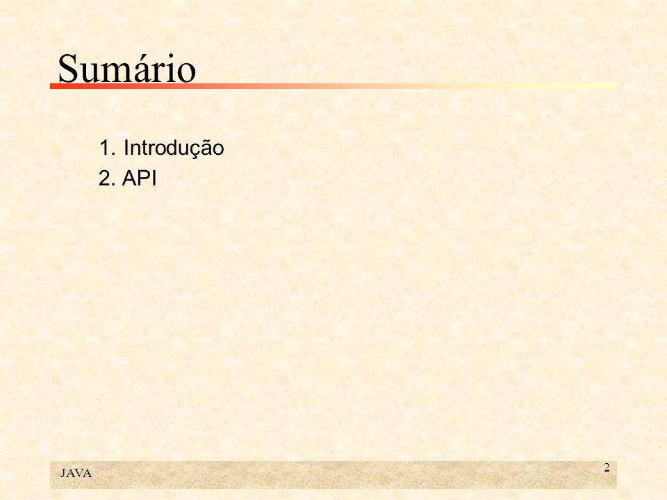 JAVA 13 2. API
