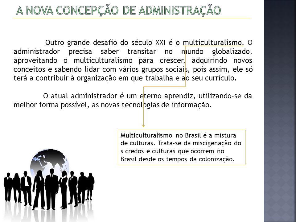 O Administrador se defrontará com problemas multifacetados e cada vez mais complexos.
