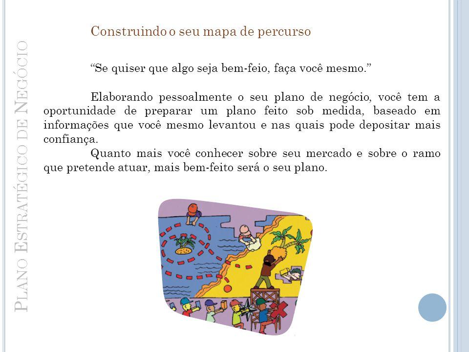 P LANO E STRATÉGICO DE N EGÓCIO Construindo o seu mapa de percurso Se quiser que algo seja bem-feio, faça você mesmo.