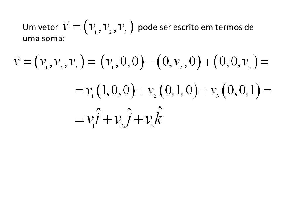 Um vetor pode ser escrito em termos de uma soma: