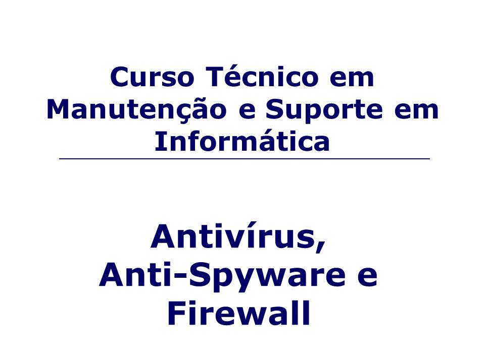 Curso Técnico em Manutenção e Suporte em Informática Antivírus, Anti-Spyware e Firewall