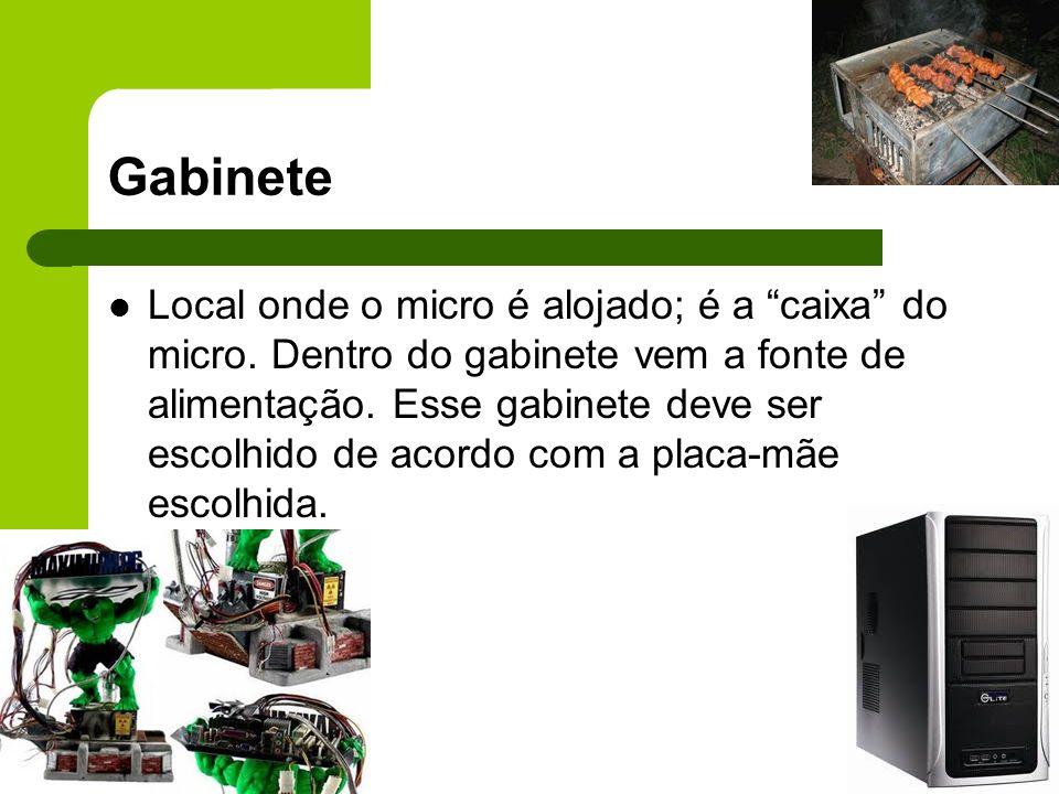Gabinete Local onde o micro é alojado; é a caixa do micro.