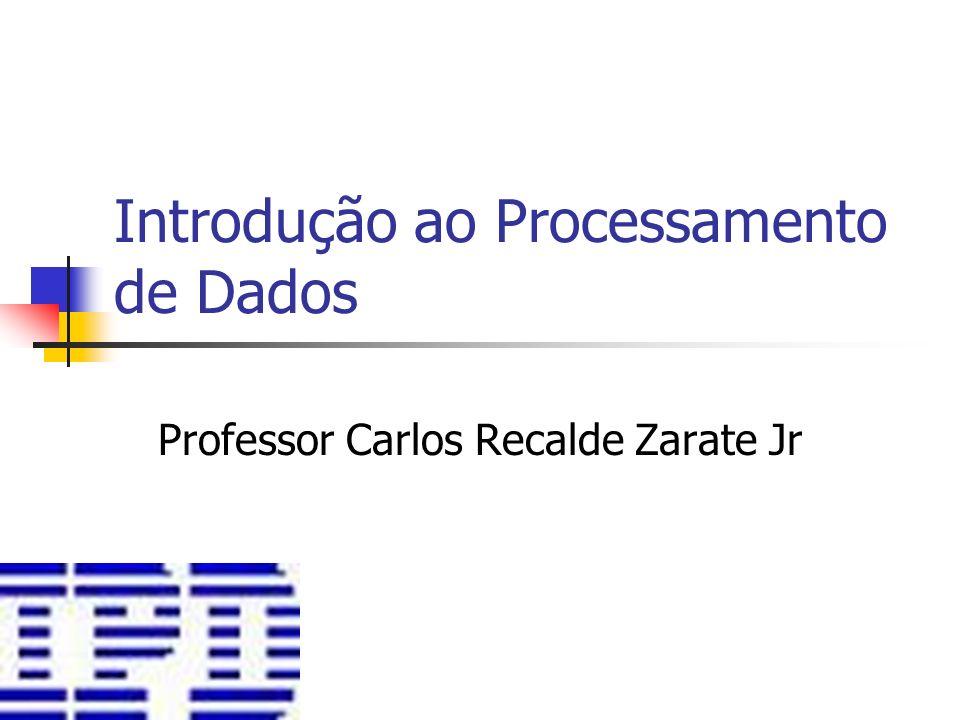 Introdução ao Processamento de Dados Professor Carlos Recalde Zarate Jr