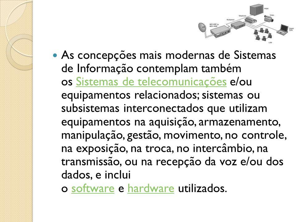 Vantagens de um Sistema de Informação Em um Sistema, várias partes trabalham juntas visando um objetivo em comum.