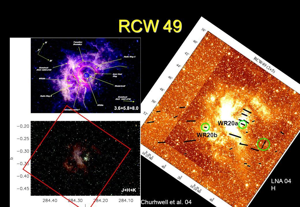 RCW 49 Churhwell et al. 04 LNA 04 H 3.6+5.8+8.0 J+H+K WR20b WR20a