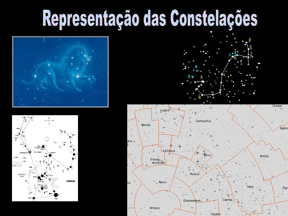 m x M - r (a.l.)Estrela Constelação Cão Maior Sírius -1,46 x 1,4 - 8,7 Carina Canopus-0,72 x -2,5 - 74 Boeiro Arcturus-0,04 x 0,2 - 34 Or ion Betelegeuse0,03 a 1,3 x -7,2 - 500 Lira Vega 0,03 x 0,6 - 25 Cen A Rigel Kentaurus -0,01 x 4,4 - 4,3 Orion Rígel0,12 x -8 - 815 Capella0,08 x -0,4 - 41 Cocheiro