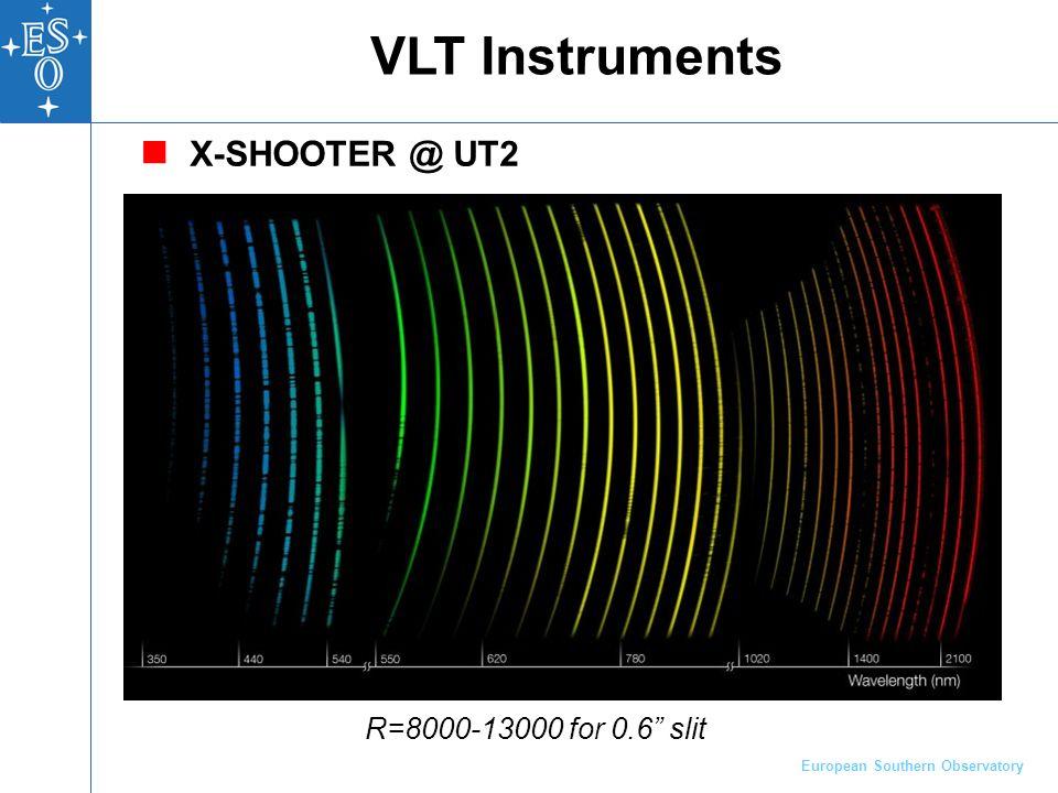 European Southern Observatory 9 Instrumentação de grande porte: Exemplo: X-Shooter, primeiro da 2ª geração do VLT 3 espectrógrafos, Euro 6mi Construído por 11 institutos na Dinamarca, França, Itália, Holanda, e ESO Envolveu 68-homens/ano Grandes instrumentos são construídos em consórcios