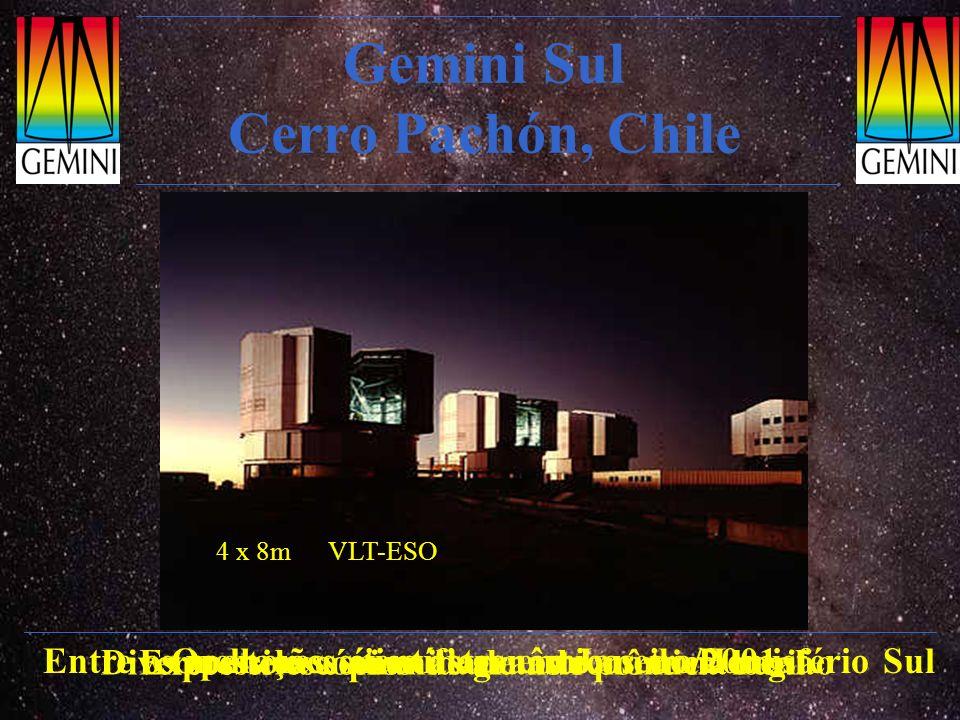 Gemini Sul Cerro Pachón, Chile Entre os melhores sítios astronômicos do Hemisfério Sul Expressiva comunidade astronômica local Operações científicas e