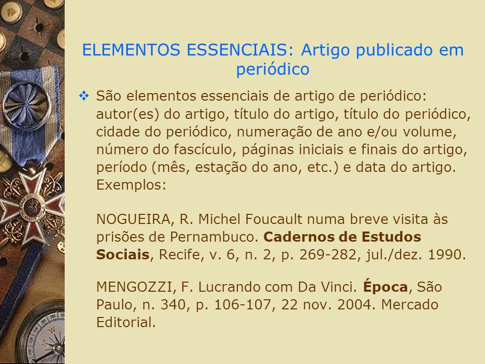 BIBLIOGRAFIA CONSULTADA ASSOCIAÇÃO BRASILEIRA DE NORMAS TÉCNICAS.