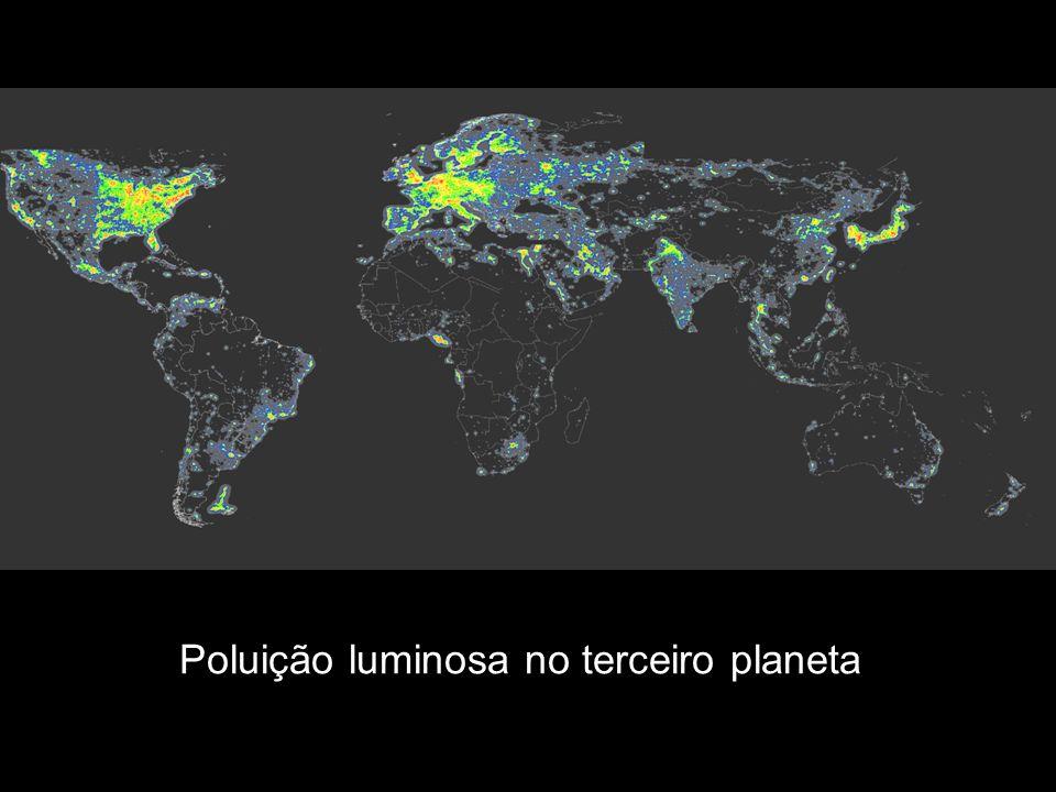 Poluição luminosa no terceiro planeta