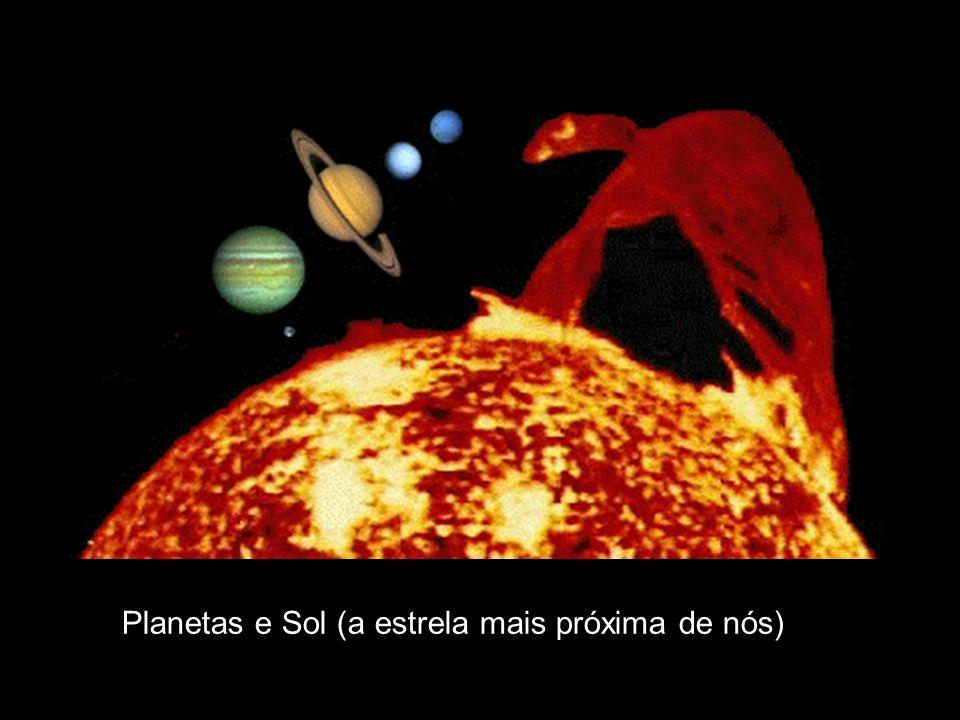 Planetas e Sol (a estrela mais próxima de nós)