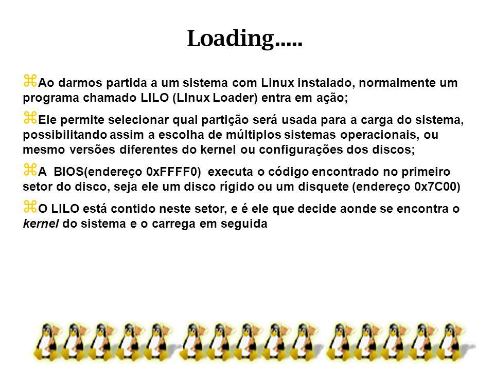 Ao darmos partida a um sistema com Linux instalado, normalmente um programa chamado LILO (LInux Loader) entra em ação; Ele permite selecionar qual par