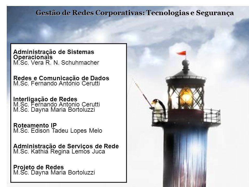 Gestão de Redes Corporativas: Tecnologias e Segurança Administração de Sistemas Operacionais M.Sc. Vera R. N. Schuhmacher Redes e Comunicação de Dados