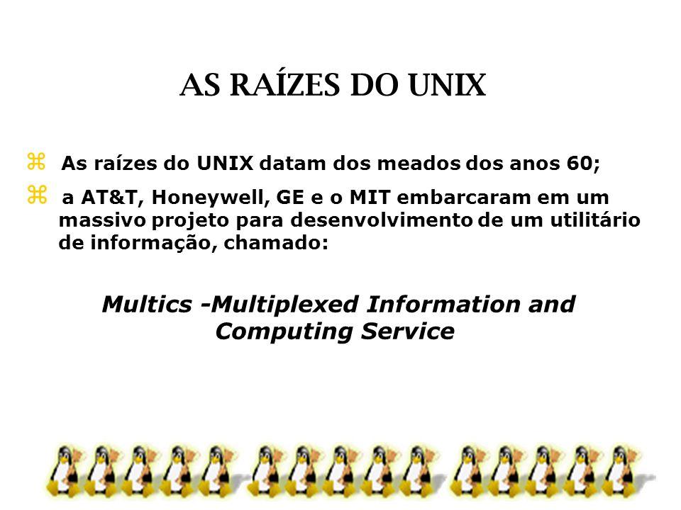 As raízes do UNIX datam dos meados dos anos 60; a AT&T, Honeywell, GE e o MIT embarcaram em um massivo projeto para desenvolvimento de um utilitário d