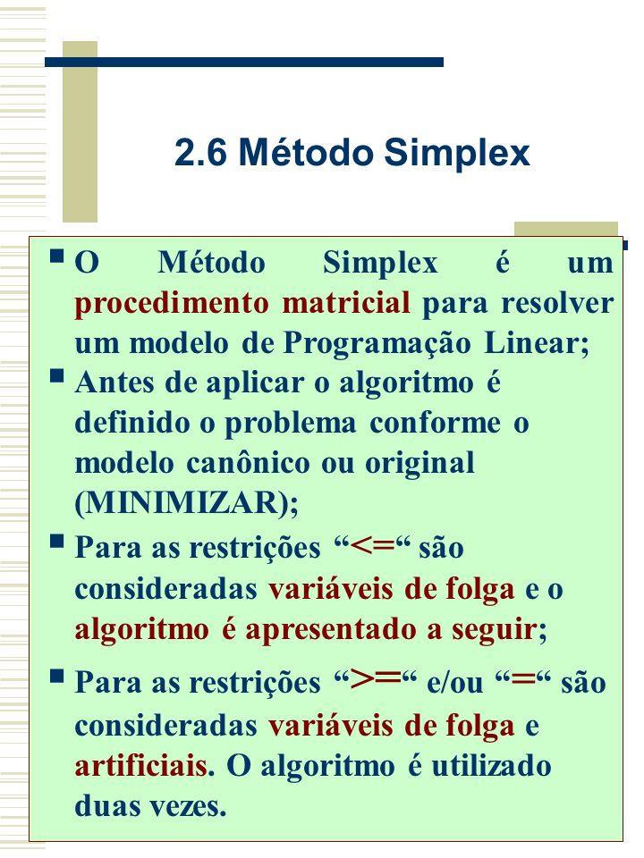 2.5 Análise de Sensibilidade A Análise de sensibilidade (Sensivity Analysis) é a interpretação dos resultados; Mediante ela podem ser realizadas modif