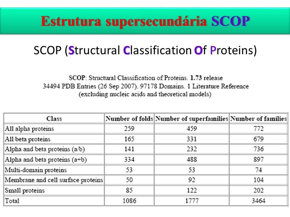 Estrutura supersecundária SCOPEstrutura supersecundária SCOP SCOP SCOP (Structural Classification Of Proteins)