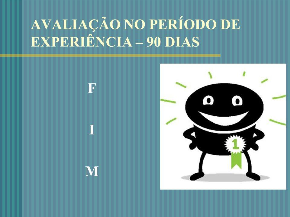 AVALIAÇÃO NO PERÍODO DE EXPERIÊNCIA – 90 DIAS FIM FIM