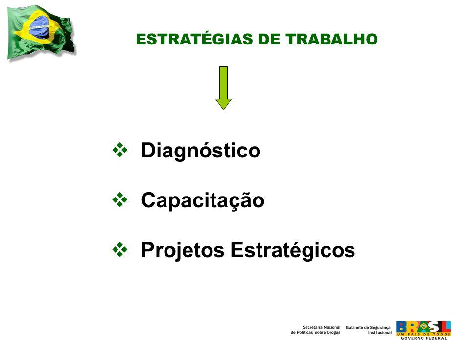 ESTRATÉGIAS DE TRABALHO Diagnóstico Capacitação Projetos Estratégicos