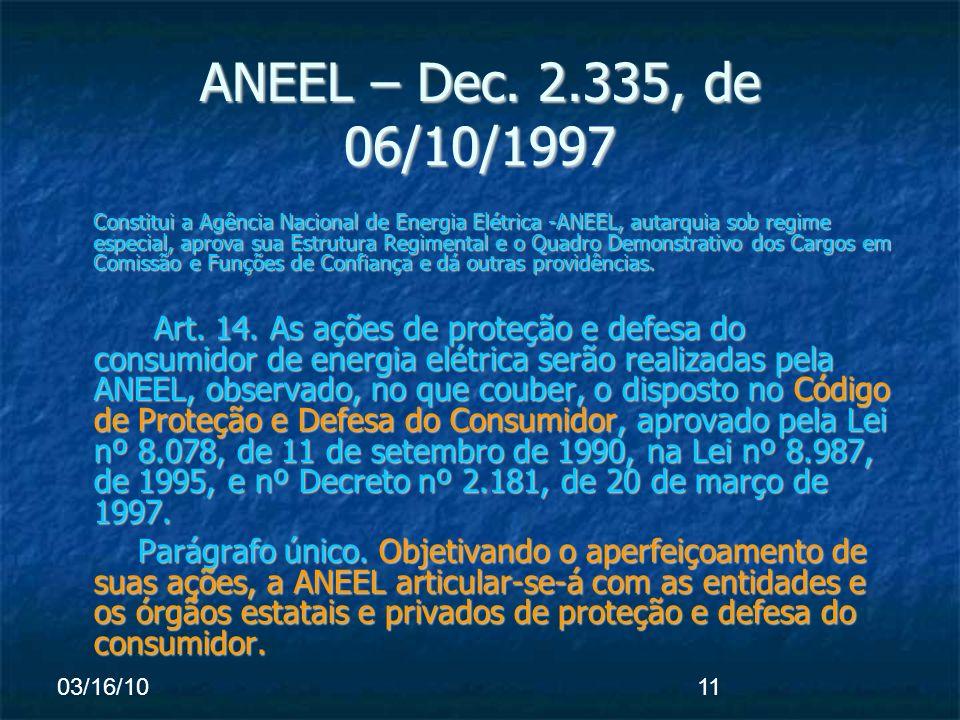 03/16/1011 ANEEL – Dec.