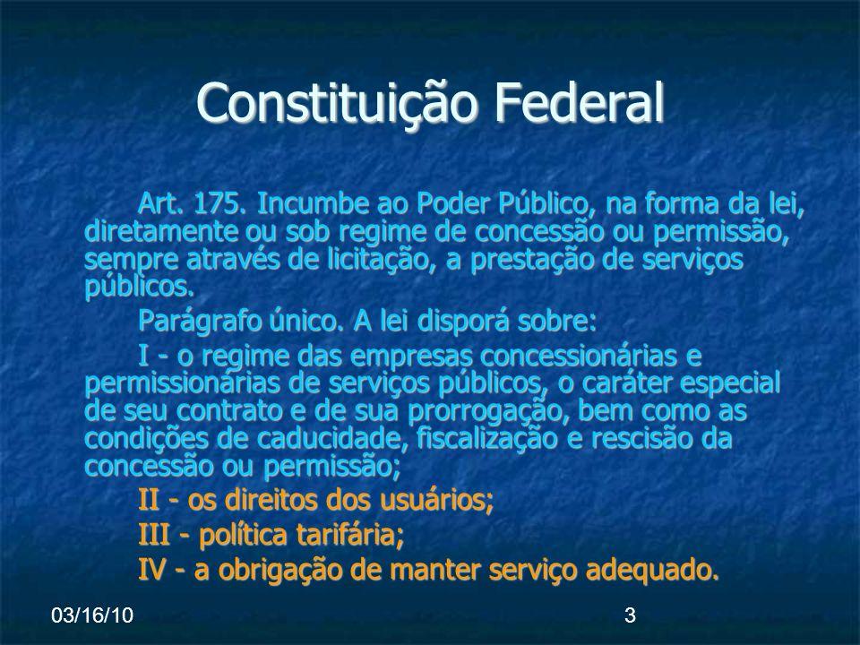 03/16/103 Constituição Federal Art. 175.