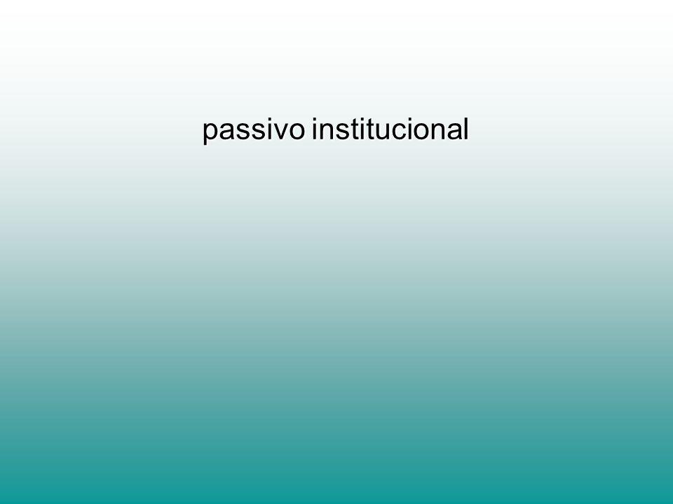 passivo institucional