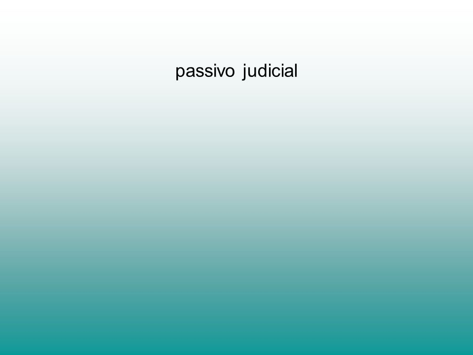 passivo judicial