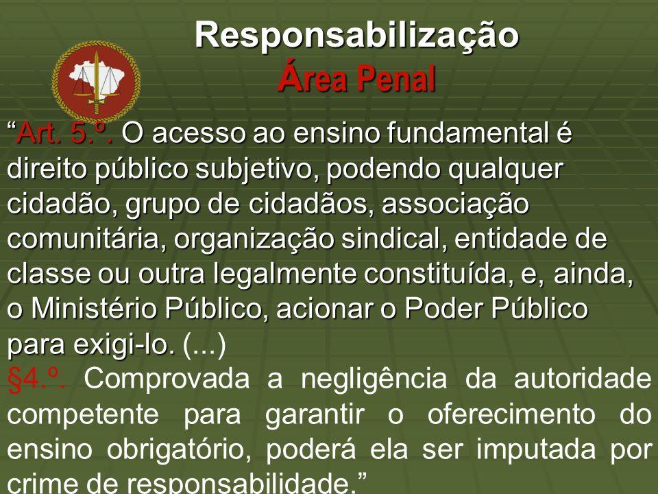 Responsabilização Á rea Penal Art. 5.º.