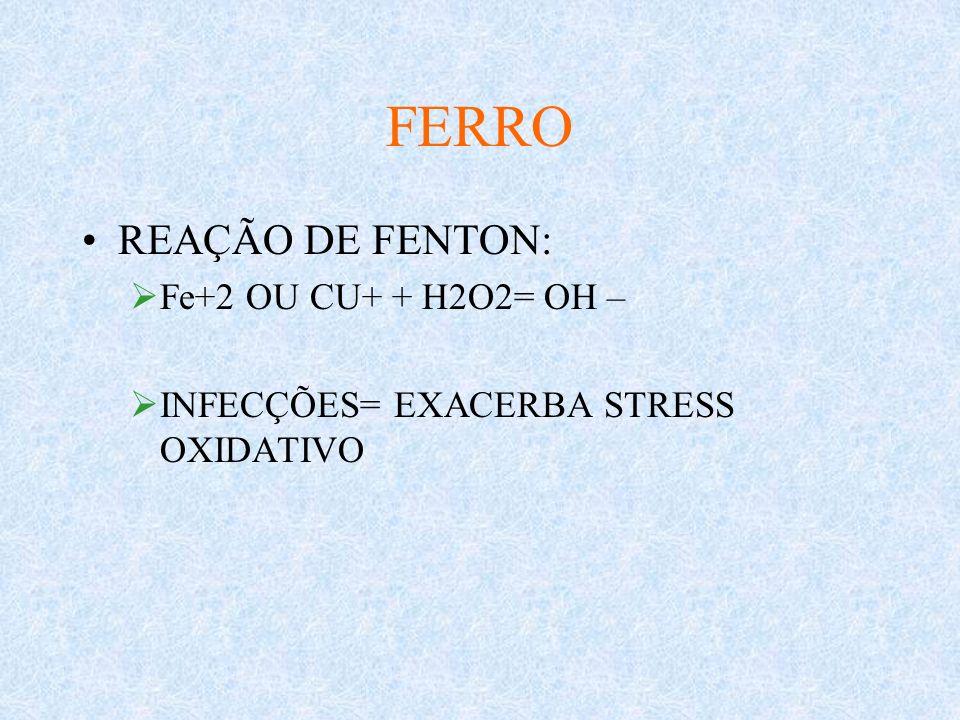 ANEMIA FERROPRIVA TRATAMENTO: SULFATO FERROSO 3-5MG/KG/DIA VO PARENTERAL: SACARATO DE FERRO COM 20MG DE FE ELEM./MILILITRO SOL.